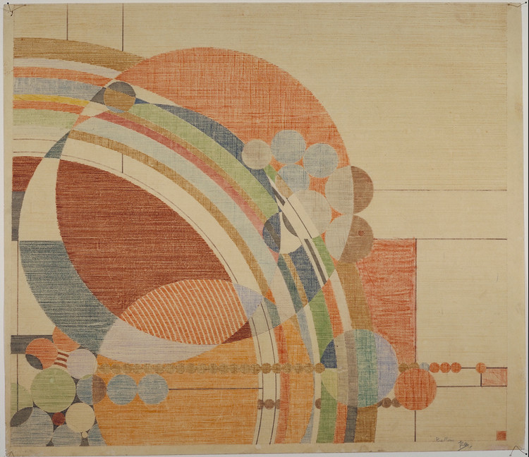 Portada del 'Liberty Magazine'. 1926. Lápices de colores sobre papel. 24 1/2 x 28 1/4″ (62.2 x 71.8 cm). The Frank Lloyd Wright Foundation Archives. Imagen © The Frank Lloyd Wright Foundation Archives (MoMA | Avery Architectural & Fine Arts Library, Columbia University, Nueva York)
