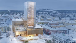 White Arkitekter Designs Nordic Region's Tallest Timber Building for Skellefteå Cultural Center
