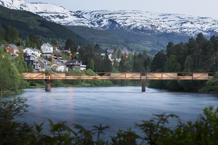 Tintra Footbridge / Rintala Eggertsson Architects, © Dag Jenssen