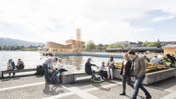 A Floating Timber Pavilion Takes Center Stage at Manifesta 11 in Zurich