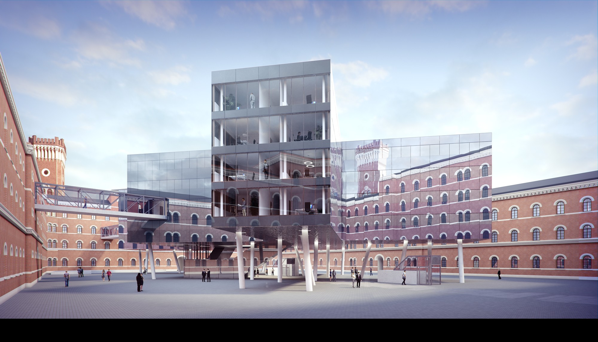 Zechner zechner place new office building into vienna for Architecture vienne