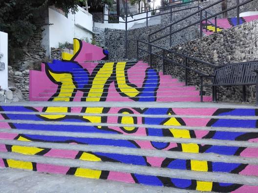 Escaleras Canteras / Taller de Arquitectura Covachita, Toctoc, Gobierno de San Pedro Garza García, Vecinos de la Colonia Canteras. Image Cortesía de INBA