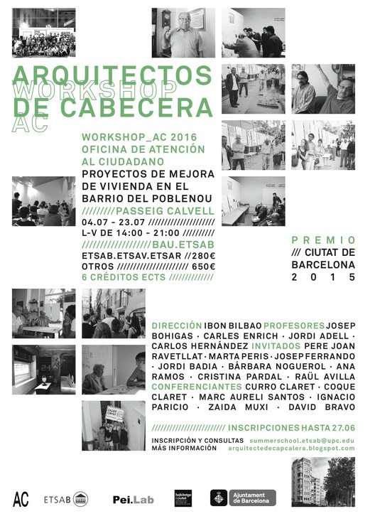 Workshop 'Arquitectos de cabecera 2016'