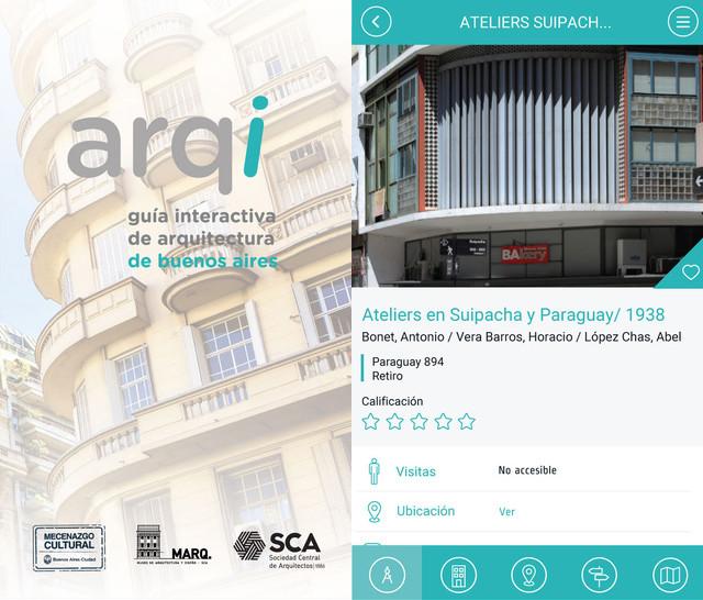 Arqi: una app interactiva para visitar la arquitectura de Buenos Aires, vía Arqi