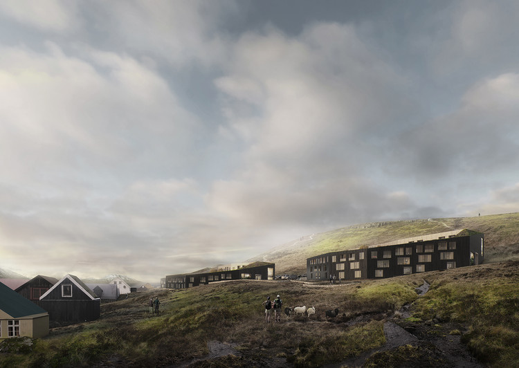 White Arkitekter's Winning Proposal for a Steep Hillside of the Faroe Islands, Courtesy of White Arkitekter