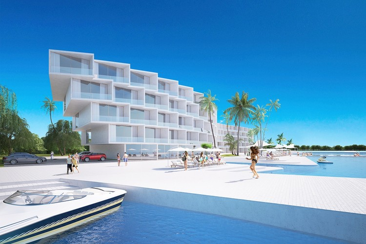 Architects of Invention's Coral Holiday Apartments Design Utilizes Biomimicry to Resemble Coral in Seychelles, Courtesy of Architects of Invention