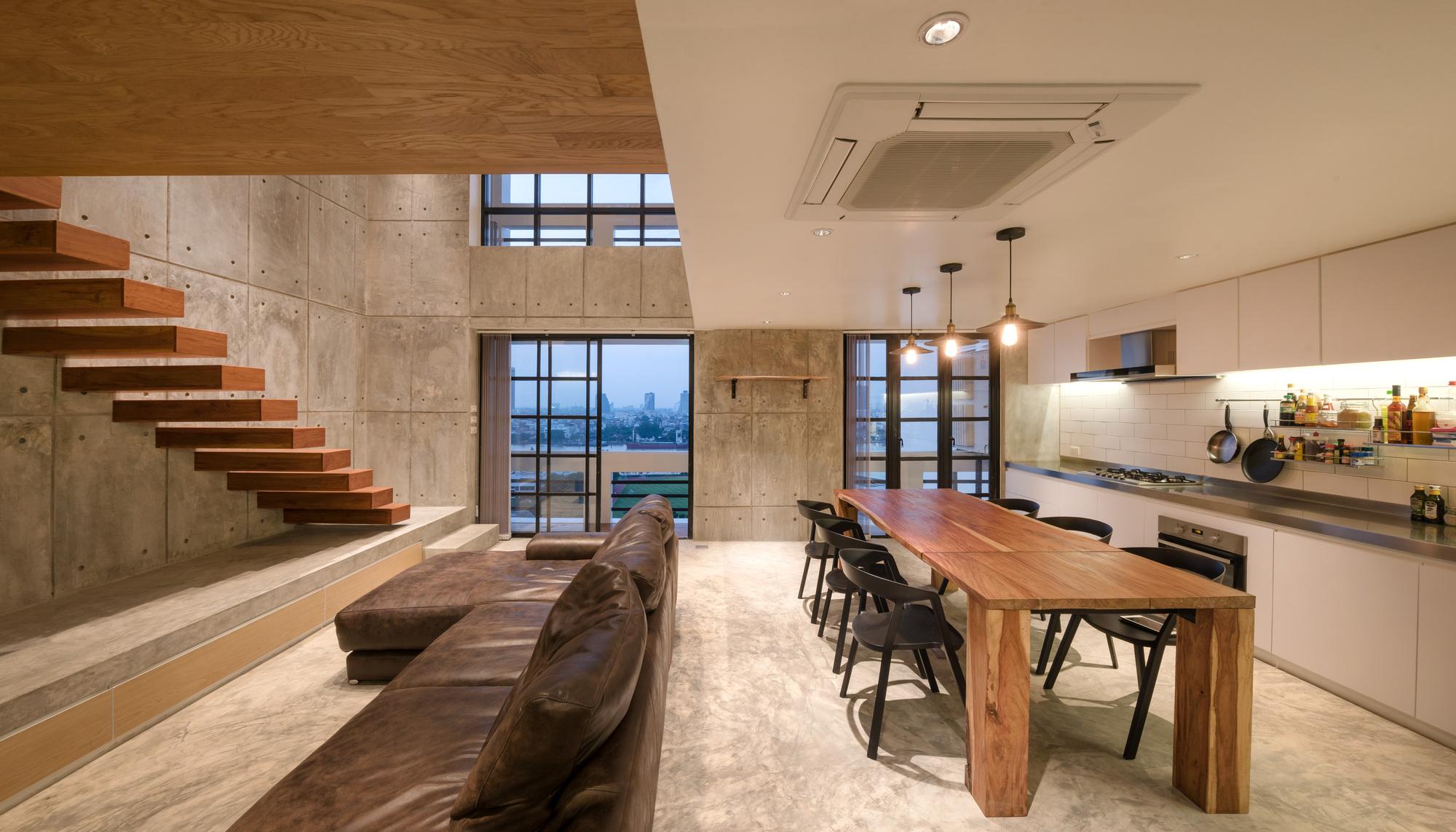 Galeria de reforma do apartamento fattstudio 13 for Double storey apartment plans