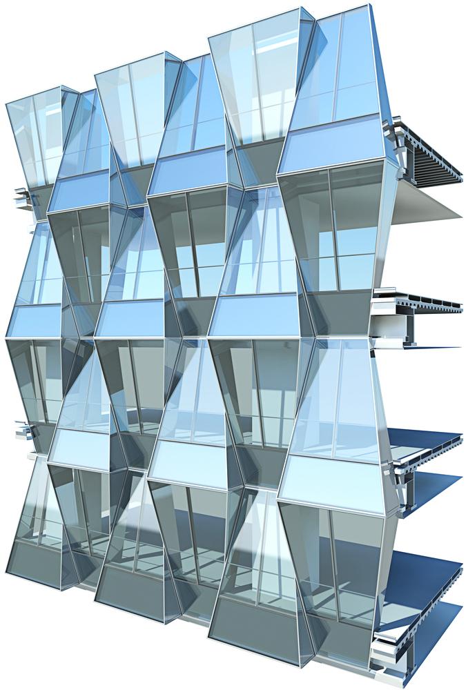 Gallery of beijing greenland center som 1 for Envelope house plans