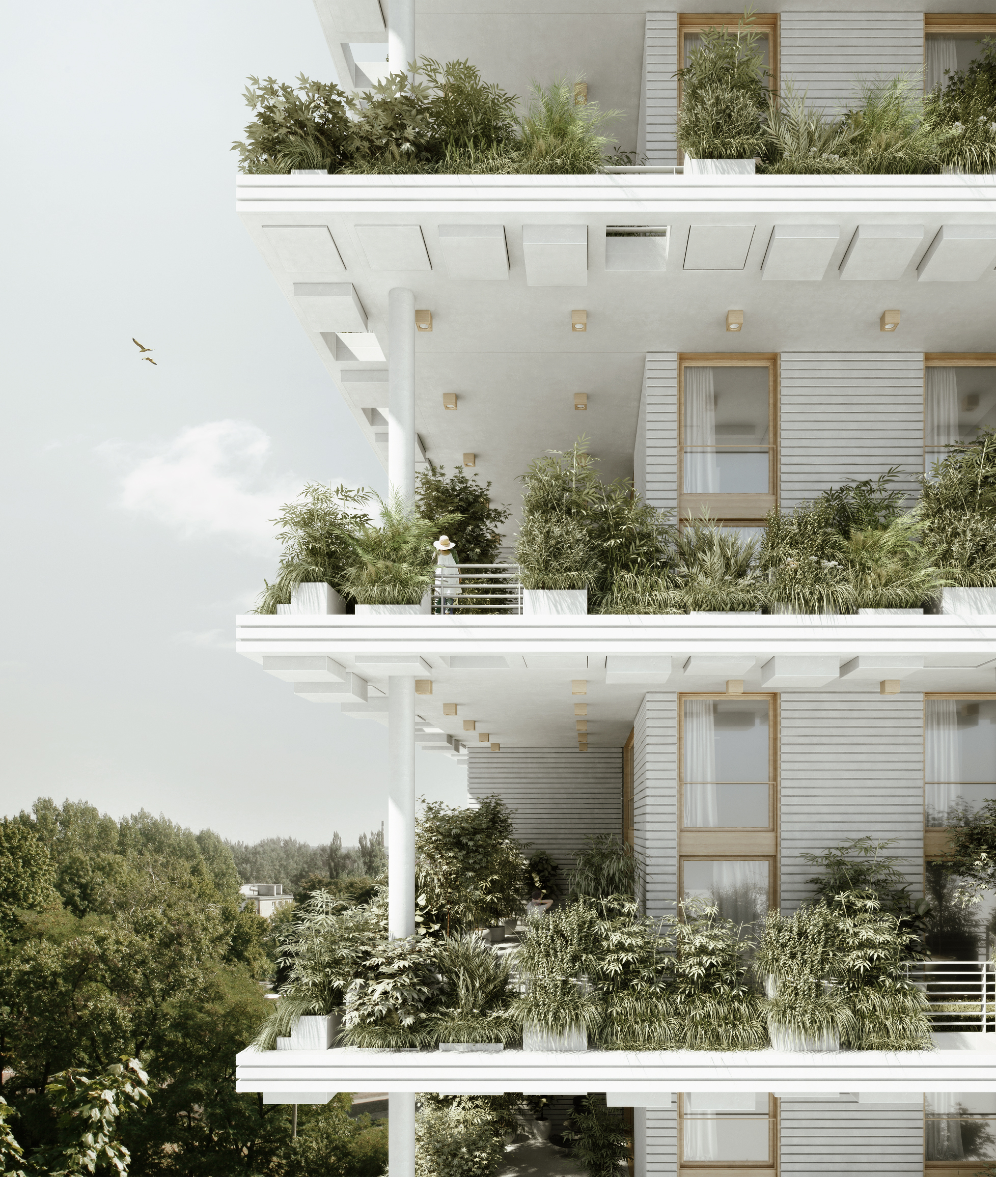 Penda designs sky villas with vertical gardens for for Architecture design for home in hyderabad