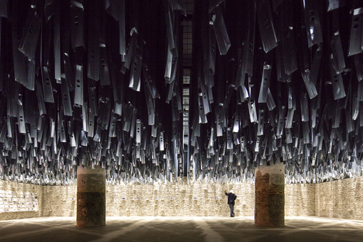 """The """"Reporting the Front"""" exhibition/ curated by Alejandro Aravena at the 2016 Venice Biennale. Image © Laurian Ghinitoiu"""