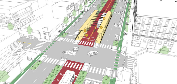 These Are the 3 Bus Stop Types Needed For Sustainable Transit Solutions, © NACTO