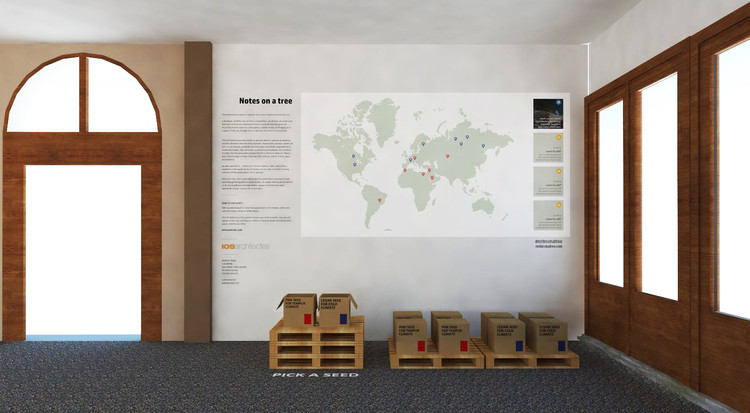 Notes On a Tree At the 2016 Venice Biennale of Architecture, Exhibition rendered image.