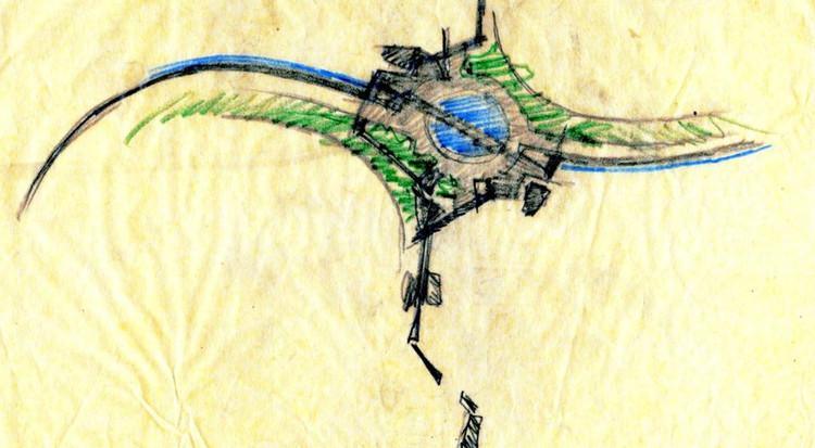 Detalle Rotonda de Agua, por Juan Grimm / Paisajismo Viñas de Chicureo
