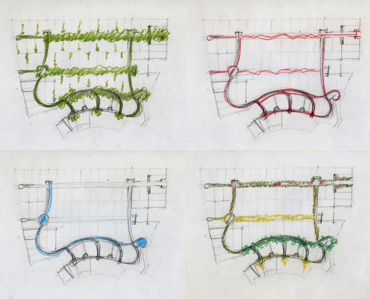 Por Juan Grimm. Parques Públicos - Circulaciones Peatonales - Agua - Tipología Parques / Paisajismo Viñas de Chicureo