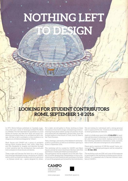 Call for Student Contribution: Black Square & CAMPO