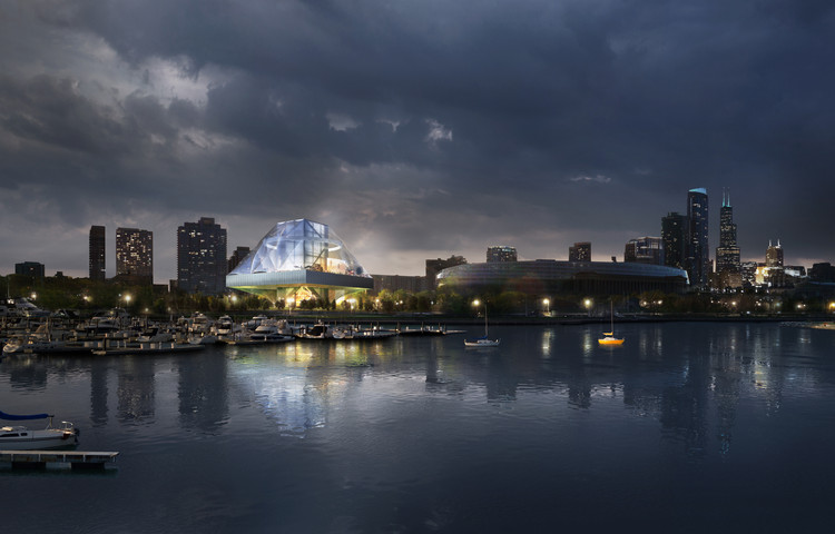 OMA Releases Images of Alternative Design for Lucas Museum, Courtesy of OMA New York