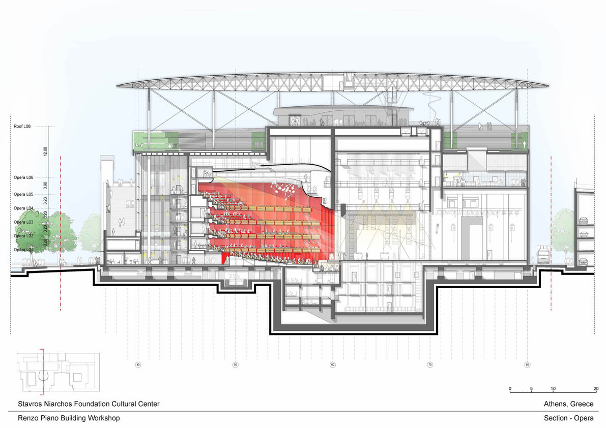 Case Study House Plans Gallery Of Stavros Niarchos Foundation Cultural Centre