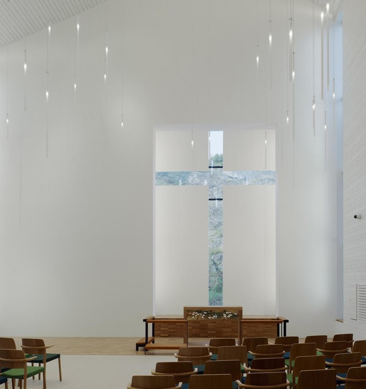 CULTO: Sweco Architects, Amhults Church, Amhult, Göteborg, Sweden. Image via World Architecture Festival