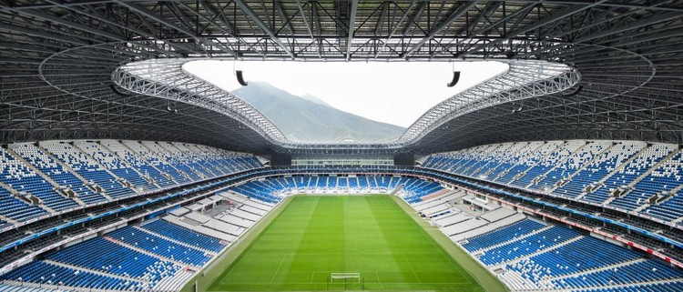 DEPORTIVO: Populous, Estadio BBVA Bancomer, Monterrey, Mexico. Image via World Architecture Festival