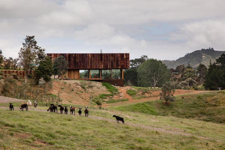 HOUSE: Herbst Architects, K Valley House, Thames, New Zealand. Image via World Architecture Festival