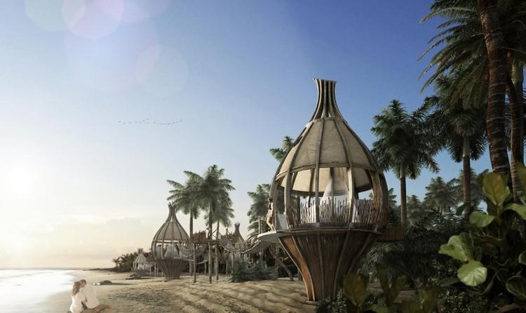 LEISURE LED DEVELOPMENT (FUTURE): Arqmov Workshop, Awakening, Sian Kán, Mexico. Image via World Architecture Festival