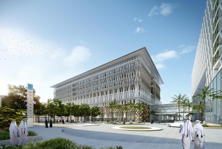 HEALTH (FUTURE): Allies and Morrison, Hamad Bin Khalifa Medical City, Doha, Qatar. Image via World Architecture Festival