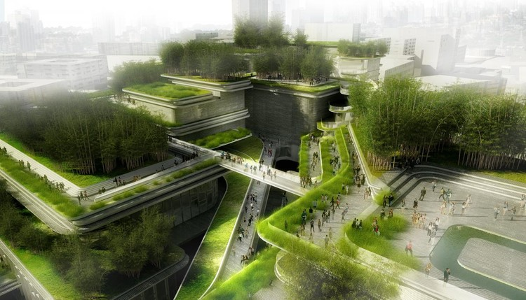 FUTURO/PROPUESTA DE CONCURSO: Aedas, Chengdu City Music Hall, Chengdu, China. Image via World Architecture Festival