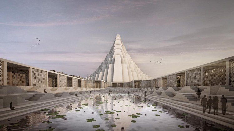 CIVIC (FUTURE): Sanjay Puri Architects, Iskcon Temple, Gandhinagar, India. Image via World Architecture Festival