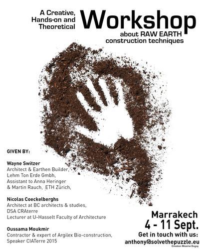 Raw Earth Workshop Marrakech September