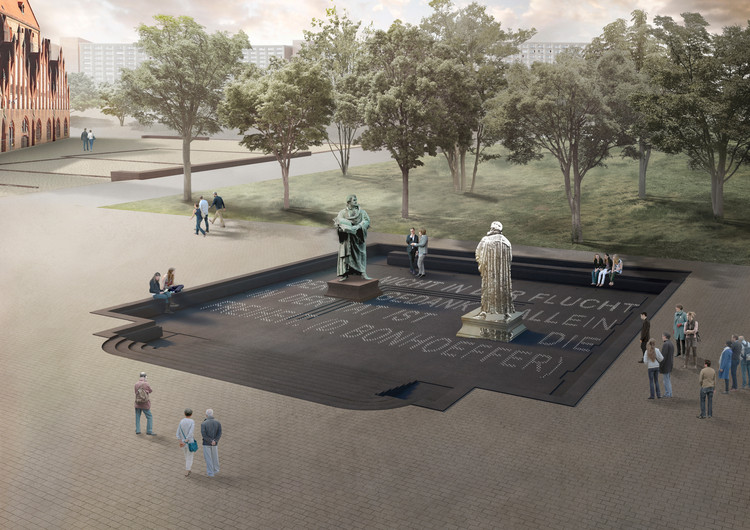 Zeller & Moye ganan concurso para diseñar el Memorial a Martín Lutero en Berlín, © Zeller & Moye