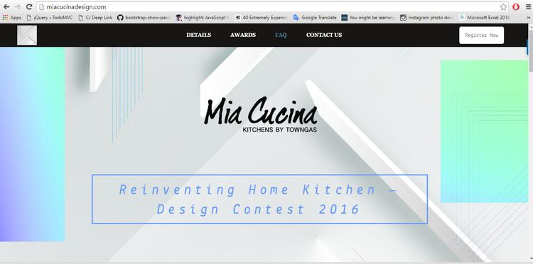 Reinventing Home Kitchen – Design Contest 2016