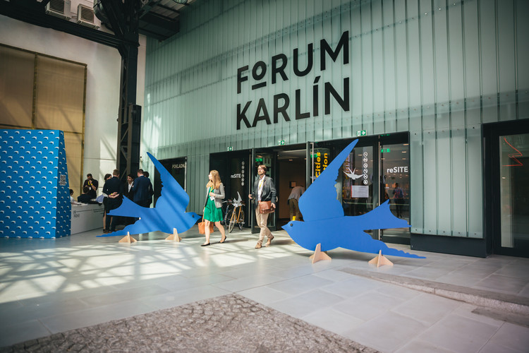 How Migration Will Define the Future of Urbanism and Architecture, The entrance to the Forum Karlín during reSITE 2016. Image © Dorota Velek