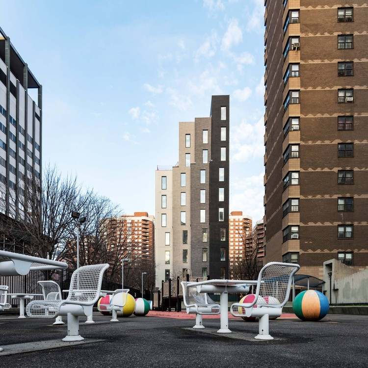 Carmel Place in New York, designed by nArchitects. Image © Field Condition