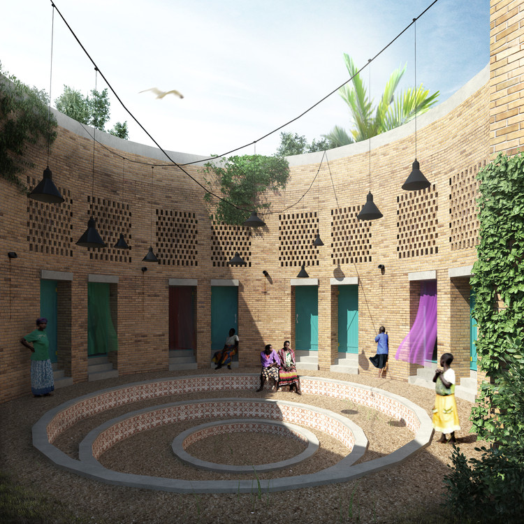 "Bee Breeders Reveal Winning Designs for a LGBT Youth Asylum Center in Uganda, First Prize Winner ""Ugandan LGBT Youth Asylum"" by Enrico Chinellato and Jacopo Donato  . Image Courtesy of Bee Breeders"