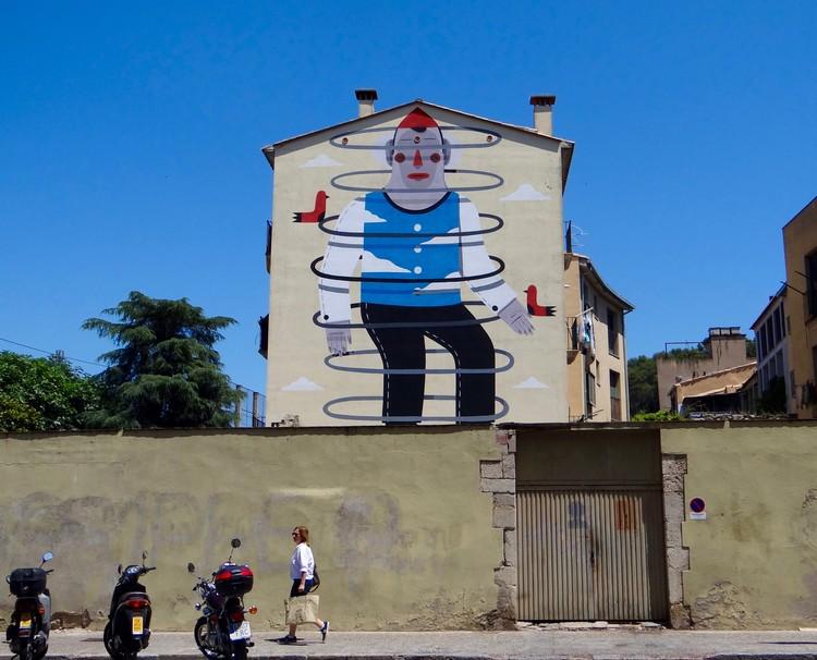 Arte urbano, la expresión artística que transformó Girona en un museo al aire libre, Agostino Iacurci (2015) - Carrer San Pau. Image © Ana Rodríguez