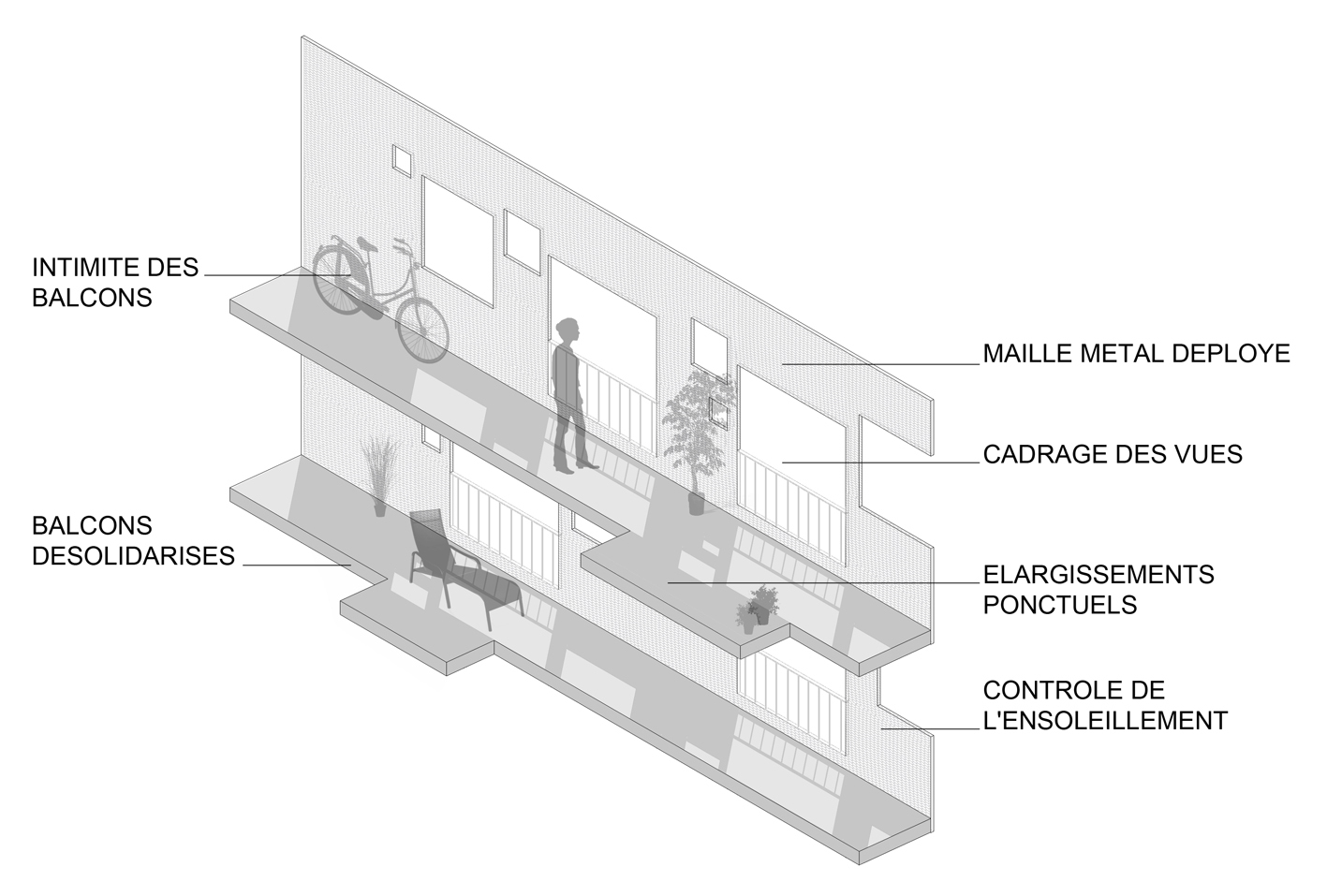 gallery of vigneux sur seine housing margot duclot architectes associ s 20. Black Bedroom Furniture Sets. Home Design Ideas