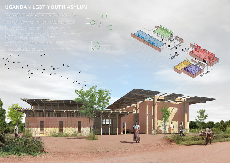 "Honorable Mention ""Ugandan LGBT Youth Asylum"" by Axel Demazieres and Julien Guerineau. Image Courtesy of Bee Breeders"