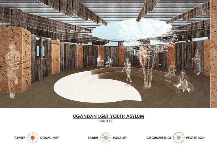 """Mención Honrosa """"Centro de acogida para jóvene LGBT en Uganda"""" por Caterina Pedo, Dino Merisi y Martina Manara. Imagen cortesía de Bee Breeders"""