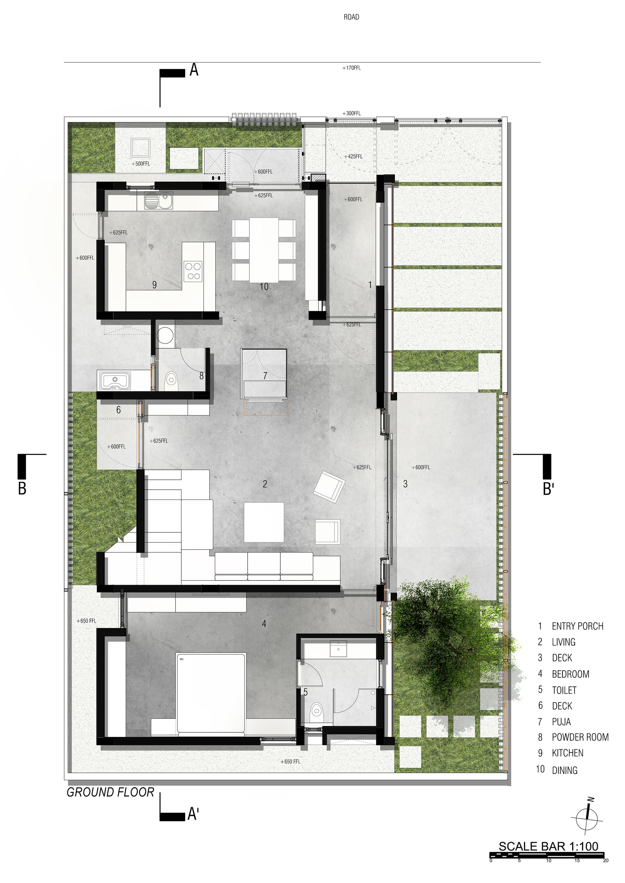 Gallery of badri residence architecture paradigm 22 for X2 residency floor plan