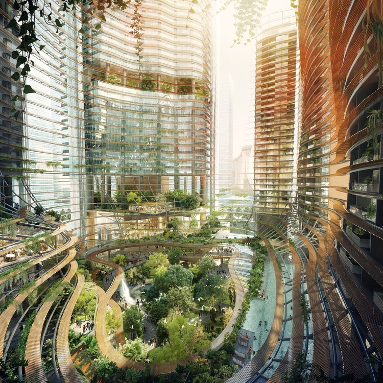 Ingenhoven architects 39 marina one tops out in singapore for Top architects in singapore