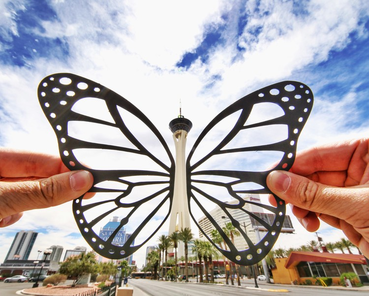 Stratosphere Butterfly. Imagen © paperboyo