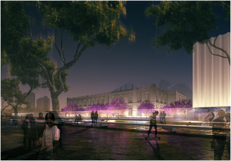 Burgos & Garrido + LLAMA Urban Design Win Competition for Lima Art Museum (MALI) Expansion, PATIO & PAVILION / Burgos & Garrido Arquitectos Asociados + LLAMA Urban Design. Image Courtesy of Museo de Arte de Lima (MALI)