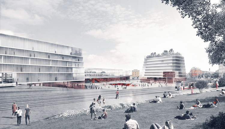 BLAU Receives Fourth Place in Czech Republic Urban Planning Competition, Courtesy of BLAU