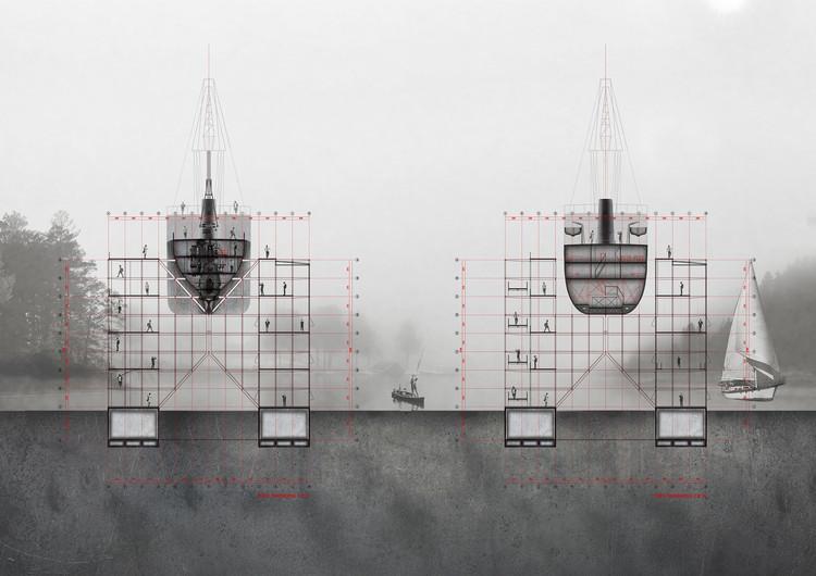 Corte transversal de los ejes 10 y 20