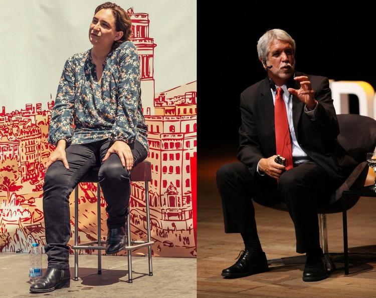 Enrique Peñalosa y Ada Colau expondrán en foro urbano de la Bienal de Venecia 2016, © Fronteiras do Pensamiento, bajo licencia: CC BY - SA 2.0  + Barcelona En Comú, bajo licencia: CC BY-ND 2.0