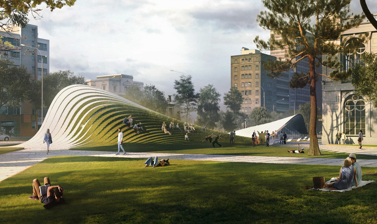 13 Designs Given Honorable Mentions for Lima Art Museum (MALI) Expansion Competition, 2525 / Zaha Hadid Architects + David Mutal Arquitectos. Image Courtesy of Museo de Arte de Lima (MALI)