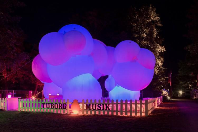 BIG-Designed Inflatable Pavilion Lights Up Roskilde Festival, Courtesy of BIG