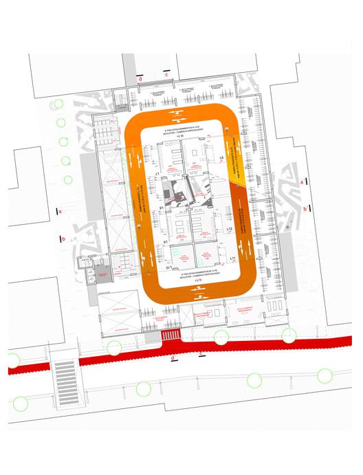 Planta Arquitectura / Estación de Bicicletas y Comercio Especializado