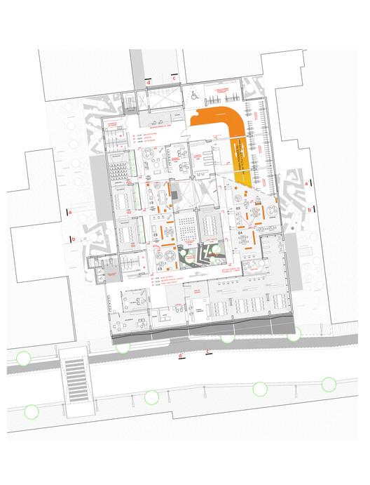Planta Arquitectura / Nivel Oficinas de Tiempo Compartido y Servicios