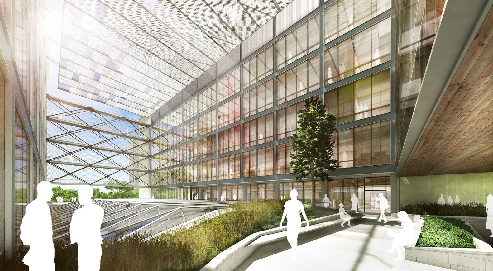 Ennead Architects Reveals Designs For Engineering Center At University Of  Texas At Austin,Atrium.